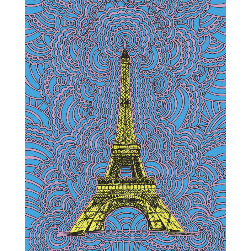 Eiffel Tower Drawing Meditation (Blue)