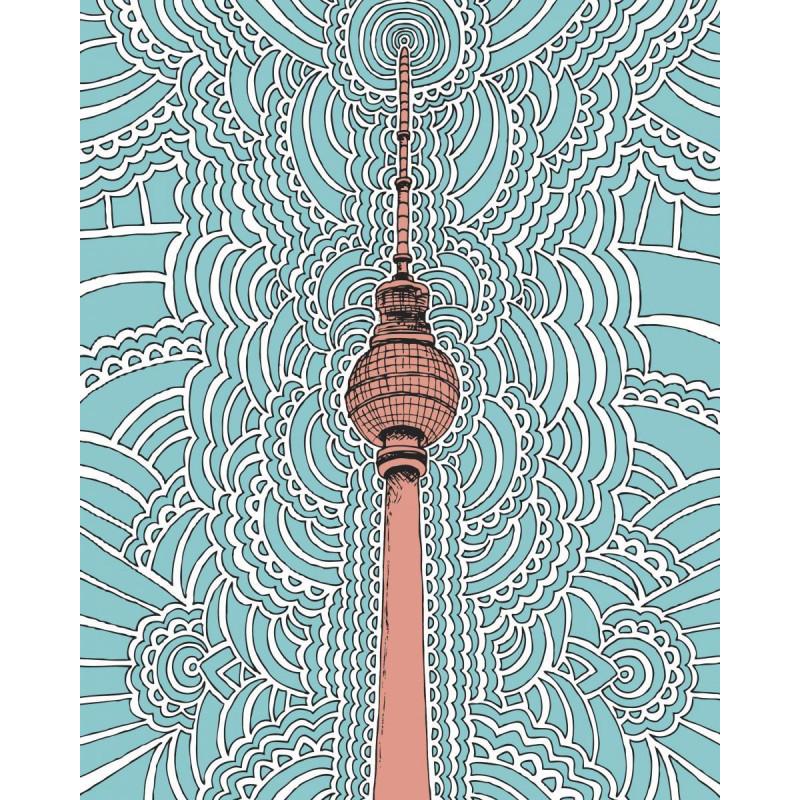 Fernsehturm - Blue