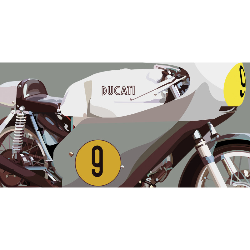 Ducati 500 GP 1971 - Grey - Close