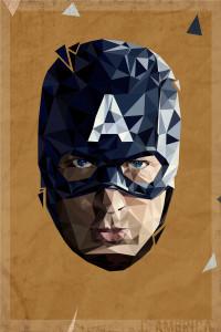 Polygon Heroes 03 (Captain America)