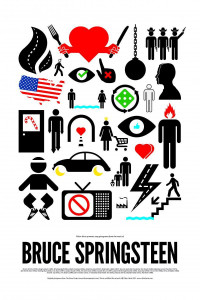 Bruce Springsteen Icon Poster