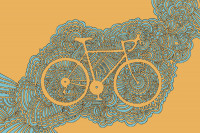 Bicycle 3 (Orange/Blue)