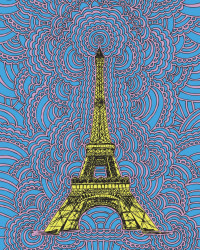 Eiffel Tower Drawing Meditation (Blue)