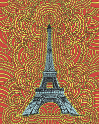 Eiffel Tower Drawing Meditation (Red)