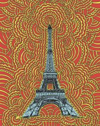 Eiffel Tower Drawing Meditation (Red)
