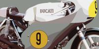 Ducati 500 GP 1971 - Grey - Close