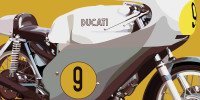 Ducati 500 GP 1971 - Yellow - Close