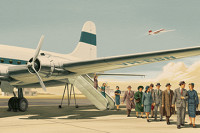 Thirties Retro Airline Poster