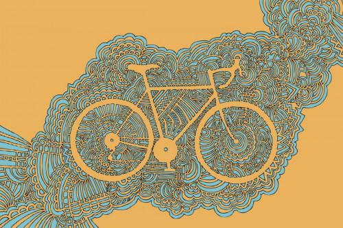 Bicycle 3 (Orange/Blue)