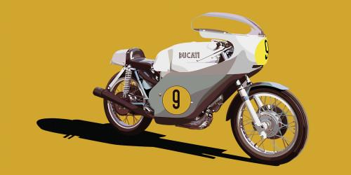 Ducati 500 GP 1971 - Yellow