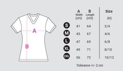 us womens t shirt size chart